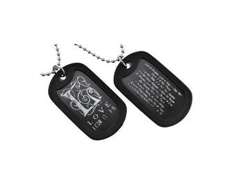 Love - Dog Tag Necklace