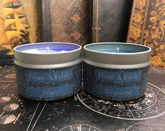 Feyre and Rhysand Candles - Soy Candles - Feysand - Themed Gift Set - ACOTAR - ACOMAF - ACOWAR - Sarah J. Maas - Night Court - Bookish Gift