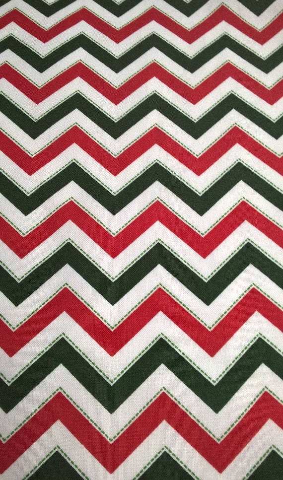 Red and Green Fabric, 100% Cotton Christmas Fabric, Red Green and ...