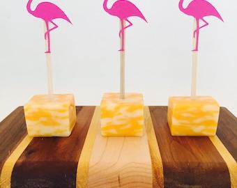 15 Flamingo Appetizer Picks - Tropical - Flamingle - Aloha Beaches Bachelorette Party - Luau - Bridal - Baby Shower - Birthday - Food Picks
