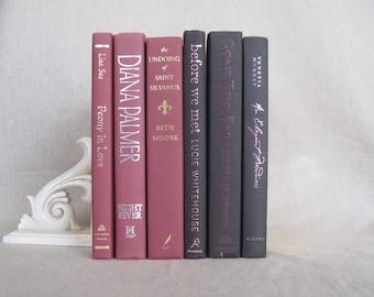 Dusty Rose and Black Decorative Book Set, Book Bundle, Home Staging, Wedding Centerpiece, Farmhouse Books