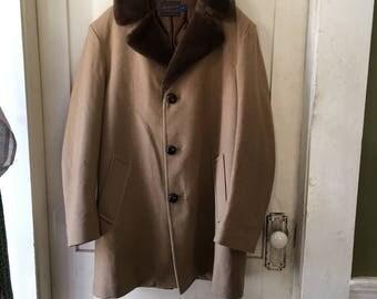 vintage men's Pendleton wool coat