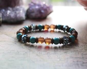 Throat Chakra, Turquoise Bracelet, Meditation Bracelet, Reiki Bracelet, Yoga Bracelet, Gemstone Bracelet, Boho Bracelet, Vegan Bracelet