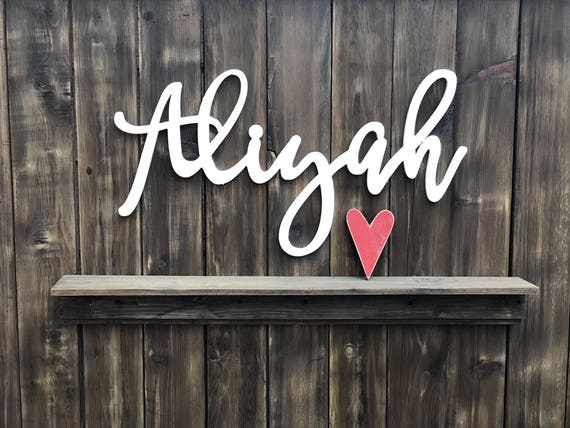 Wooden letters nursery decor baby name signs custom name like this item negle Image collections