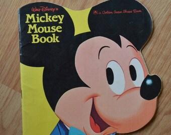 1965 Walt Disney's Mickey Mouse Book A Golden Super Shape Book