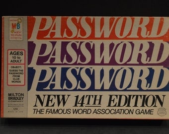 Vintage 1973 Milton Bradley Password 14th Edition