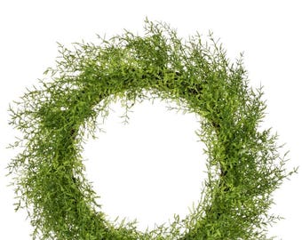 Feather Fern Wreath 23""