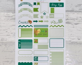 GREEN Weekly Sampler Set - Stickers for Planners!