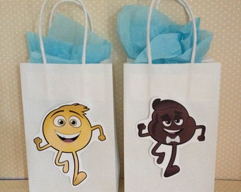 Emoji Movie Favor Party Bags with Handles