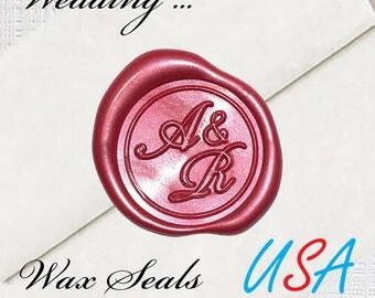 Custom Wedding Wax Seal Stamps - Wax Seal Stamps - Wax Seals USA
