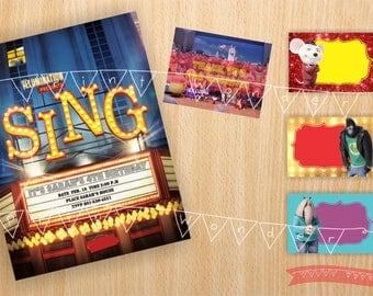 Sing Movie Party, Sing Invitation, Sing Birthday Invitation, Sing Invitation Download, Sing Party, Sing Invites