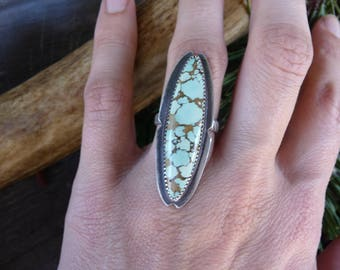Real Turquoise Ring, Turquoise Sterling Silver Ring, Turquoise Jewelry, Native American