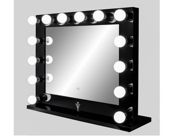 vanity mirror. Dimmable Grand Hollywood Impact Lighted Vanity Mirror w  Dual Outlets lighted vanity mirror large makeup with
