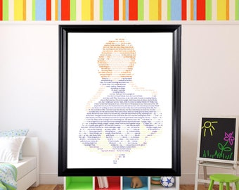 Disney Princess Sofia the First in Text Wall Art | Disney Princess Art | Disney Channel |