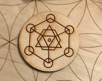 Sacred Geometry Wood Magnet - 2 inches