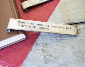 Personalised Quote Metal Bookmark