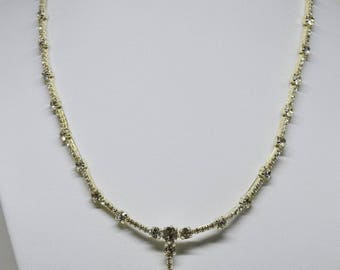 Lovely silver tone and crystals necklace