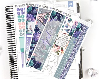 Wild at Heart April Monthly View Planner Kit | ~200 Stickers | Planner Stickers | For Erin Condren LifePlanner
