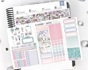 Rain Pocket TN / Personal Weekly Planner Kit | ~100 Stickers | Planner Stickers | For TN / Personal Planners