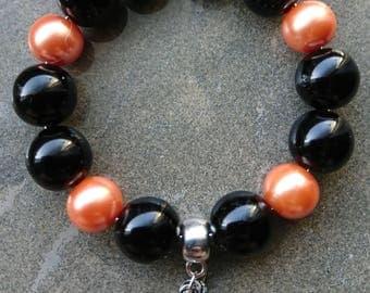 Pumpkin bracelet, halloween bracelet