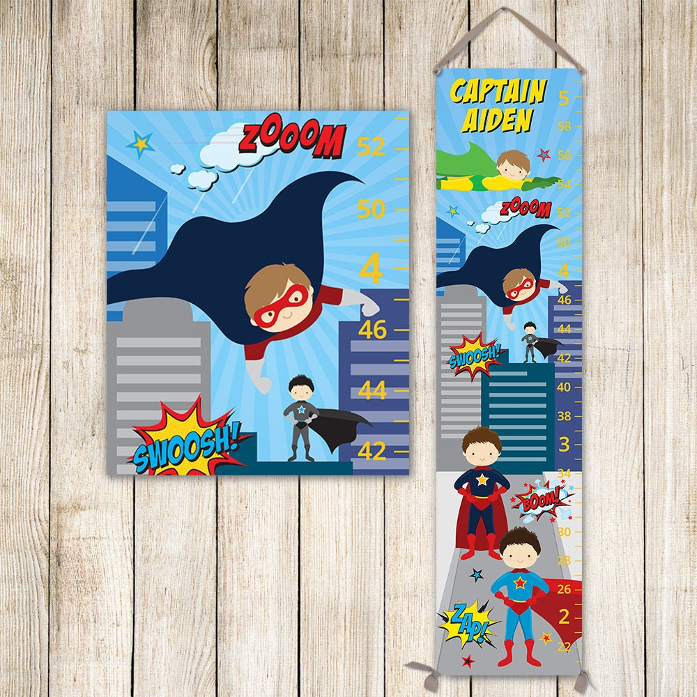 Superhero growth chart personalized canvas growth chart perfect superhero growth chart personalized canvas growth chart perfect for superhero nursery superman kids art boy gift toddler gift gc4668a nvjuhfo Image collections