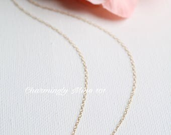 14k Gold filled cross necklace. Dainty necklace. Bridesmaid necklace. Wire wrap necklace
