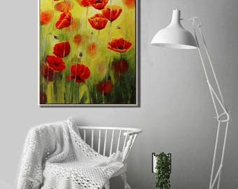 Oil Painting of Flower, Large Painting Flowers, Nature Painting, Modern Art Painting, Nature Home Decor, Nature Wall Art Flower Oil Painting