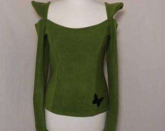 Fleece pullover Sia fairy green Sanlivine