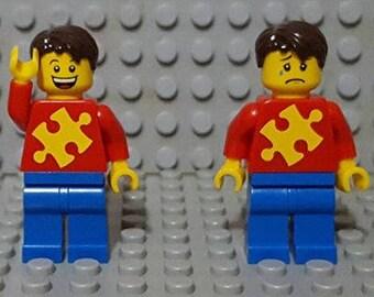 Puzzle Piece (AUTISM) Custom Lego Minifigure