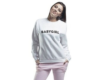 Babygirl Sweatshirt Blouse Black Brown Pink Gray White Mint Green