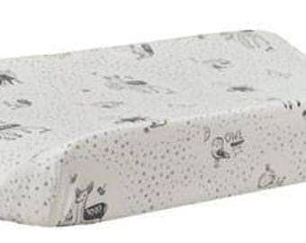 Changing Pad Cover - Adventure Awaits   Black and White Adventure Awaits
