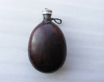 Vintage Water Canteen/ Army Military Canteen/ Cold Water Type Flask