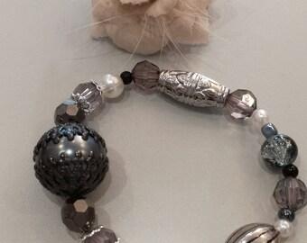 Gray trendy bracelet
