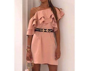 SS17, Rose Ruffle Short Dress by Other Theory, 17SS052