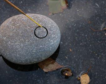 Black Incense Holder - Gift for Men - Beach Stone Incense Burner - Meditation Altar - Sacred Space - Rustic Home Decor