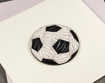 3D Blank Quilled Card Happy Birthday Football Quilling Card