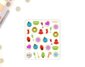 Baking Christmas Planner Stickers
