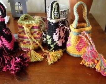 Mini wayuu bag  keyrings charms