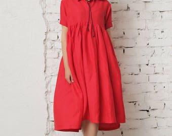Plus Size Clothing/ Plus Size Dress/ Cocktail Dress/ Linen Maxi Dress/ Oversize Dress/ Plus Size Linen/ Black Tunic/ Asymmetrical Dress
