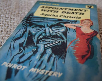 Appointment With Death. Agatha Christie. Hercule Poirot. A Vintage Book. Great Pan. G155. 1958
