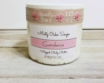Body Butter, Whipped Body Butter, Gardenia Body Butter, Shea Body Butter, Gardenia, Moisturizer, Dry Skin Care, Whipped Butter, Body Cream