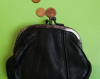 Vintage Leather Coin Purse, Leather Change Wallet, Small Money Bag, coin wallet, genuine leather wallet, coin purse, Unique wallet