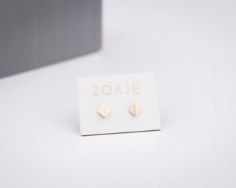 INDIA Small 10k Solid Gold Earrings studs