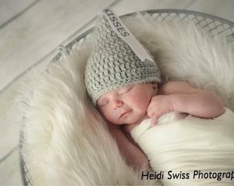 Newborn Kisses hat, newborn photo prop, Newborn Kiss Hat, Valentine's Day photo prop, hershey kisses hat, Newborn Halloween, kisses hat