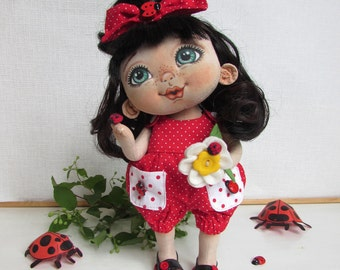Textile doll baby Lily