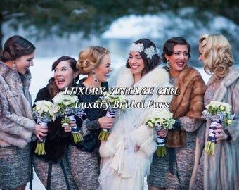 Luxury Vintage Fur Stole | Mink Stole | Fox Stole  | Sable  Fur | Wedding Shawl | Wrap | Cape  | Jacket | Shrug  | Bolero |  Coat | Capelet