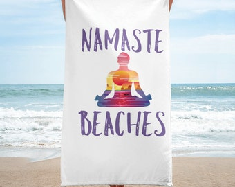 Towel - Yoga towel- yoga mat- namaste- beach towel