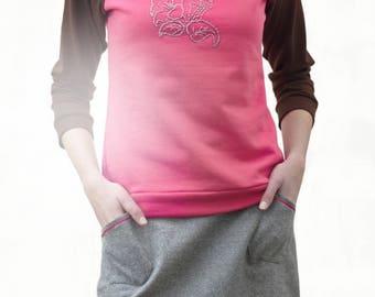 Anita Fog/supra magenta skirt with two patch pockets