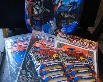 Transformers Revenge Of The Fallen  Birthday Party Pack 8 Dinner Plates 8 Masks 8 Gift Bags 8 Bracelets Dream Works 2007  Movie Hasbro
