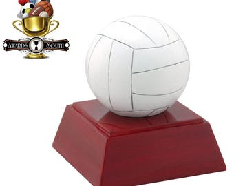 Color Volleyball Resin Award - Volleyball Trophy - Free Personalization